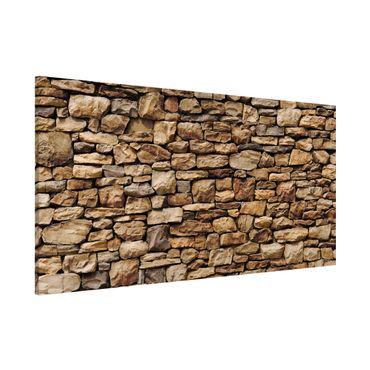 Magnettafel - Amerikanische Steinwand - Memoboard Panorama Quer
