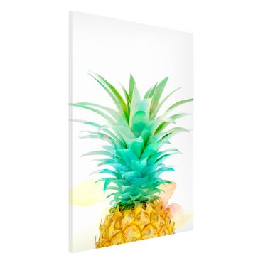 Magnettafel - Ananas Aquarell - Memoboard Hochformat