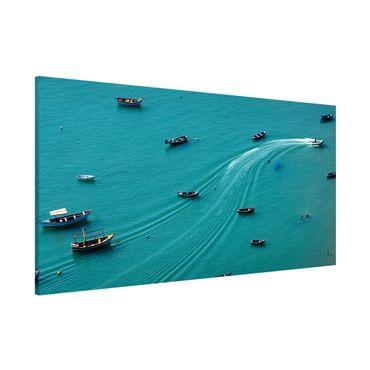 Magnettafel - Ankernde Fischerboote - Memoboard Panorama Querformat 1:2