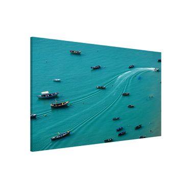 Magnettafel - Ankernde Fischerboote - Memoboard Querformat 2:3