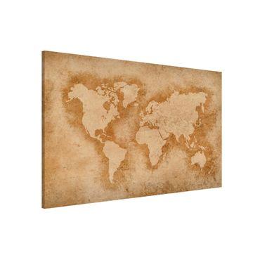 Magnettafel - Antike Weltkarte - Memoboard Querformat