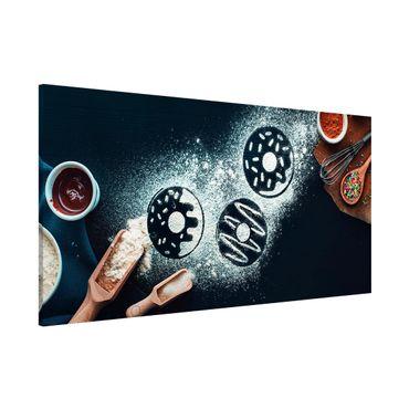 Magnettafel - Backrezept Donuts - Memoboard Panorama Querformat