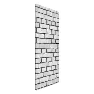 Magnettafel - Weiße Backstein Mauer - Memoboard Panorama Hoch