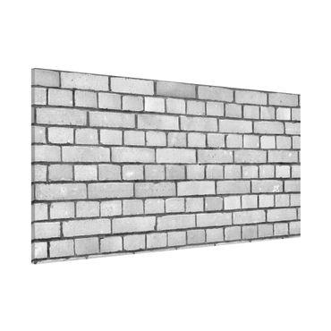 Magnettafel - Weiße Backstein Mauer - Memoboard Panorama Quer