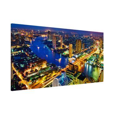 Magnettafel - Bangkok Skyline - Memoboard Panorama Quer