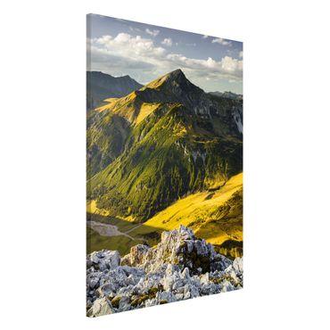 Magnettafel - Berge und Tal der Lechtaler Alpen in Tirol - Memoboard Panorama Hochformat