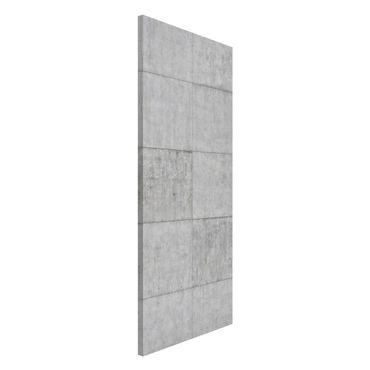 Magnettafel - Beton Ziegeloptik grau - Memoboard Panorama Hoch