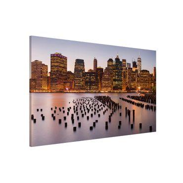 Magnettafel - Blick auf Manhattan Skyline - Memoboard Querformat