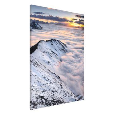 Magnettafel - Blick über Wolken und Berge - Memoboard Querformat