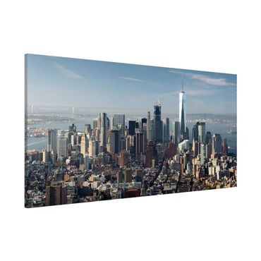 Magnettafel - Blick vom Empire State Building - Memoboard Panorama Querformat