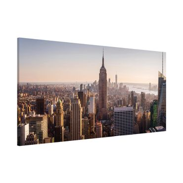 Magnettafel - Blick vom Top of the Rock - Memoboard Panorama Querformat