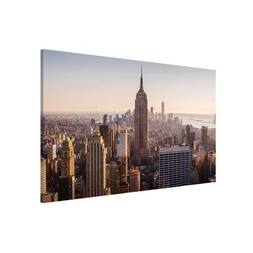 Magnettafel - Blick vom Top of the Rock - Memoboard Querformat
