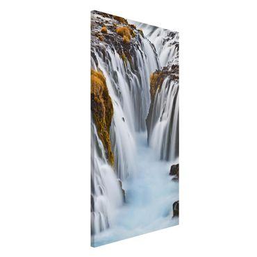 Magnettafel - Brúarfoss Wasserfall in Island - Memoboard Hoch