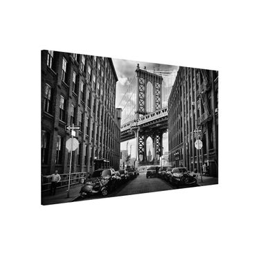 Magnettafel - Manhattan Bridge in America - Memoboard Quer