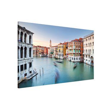 Magnettafel - Canale Grande Blick von der Rialtobrücke Venedig - Memoboard Querformat
