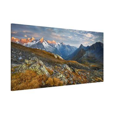 Magnettafel - Col de Fenêtre Schweiz - Memoboard Panorama Querformat