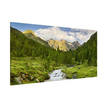 Magnettafel - Debanttal Nationalpark Hohe Tauern - Memoboard Panorama Querformat