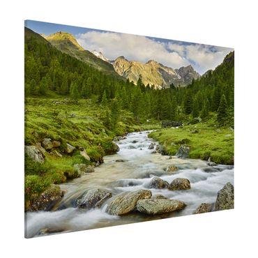 Magnettafel - Debanttal Nationalpark Hohe Tauern - Memoboard Querformat