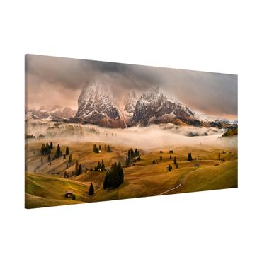 Magnettafel - Dolomiten Mythen - Memoboard Panorama Quer