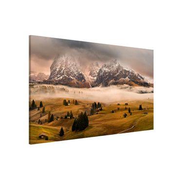 Magnettafel - Dolomiten Mythen - Memoboard Querformat
