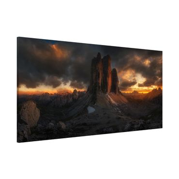 Magnettafel - Drei Zinnen - Memoboard Panorama Quer
