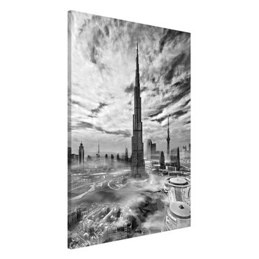 Magnettafel - Dubai Super Skyline - Memoboard Hochformat 3:2