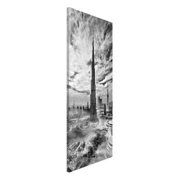 Magnettafel - Dubai Super Skyline - Memoboard Panorama Hochformat 2:1