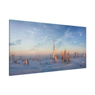 Magnettafel - Dubai über den Wolken - Memoboard Panorama Querformat 1:2