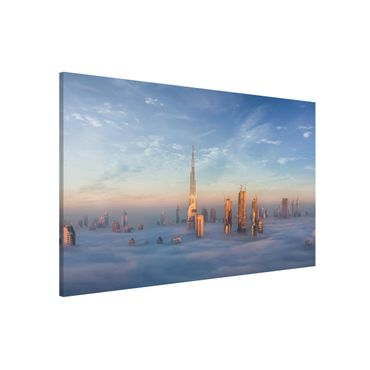 Magnettafel - Dubai über den Wolken - Memoboard Querformat 2:3