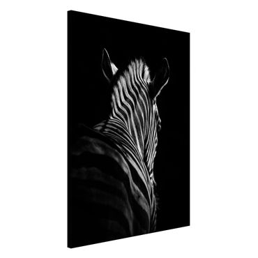 Magnettafel - Dunkle Zebra Silhouette - Memoboard Hochformat 3:2