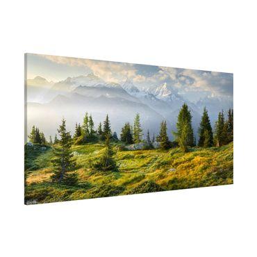 Magnettafel - Émosson Wallis Schweiz - Memoboard Panorama Querformat