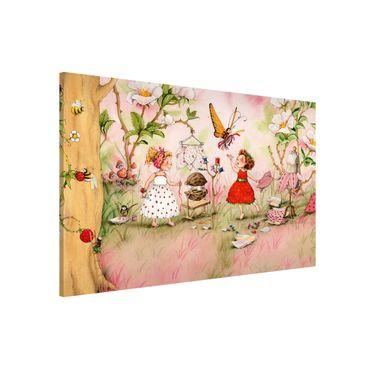Magnettafel - Erdbeerinchen Erdbeerfee - Schneiderstube - Memoboard Querformat