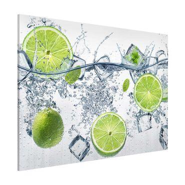 Magnettafel - Erfrischende Limette - Memoboard Quer