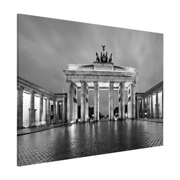 Magnettafel - Erleuchtetes Brandenburger Tor II - Memoboard Quer