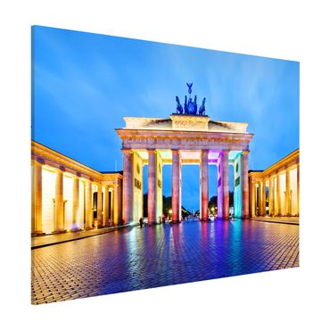 Magnettafel - Erleuchtetes Brandenburger Tor - Memoboard Quer