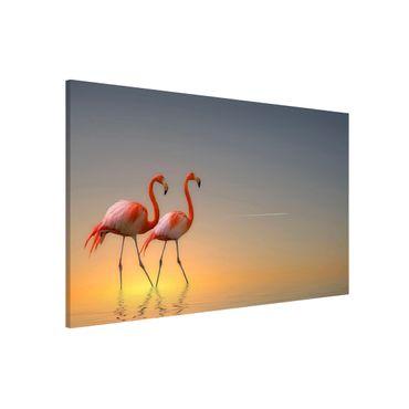 Magnettafel - Flamingo Love - Memoboard Quer