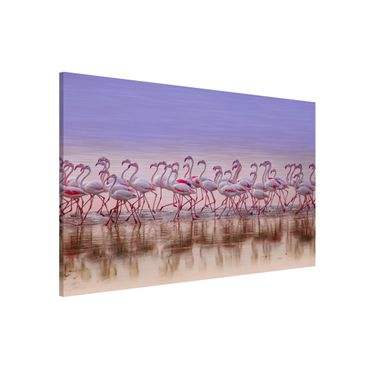 Magnettafel - Flamingo Party - Memoboard Querformat 2:3