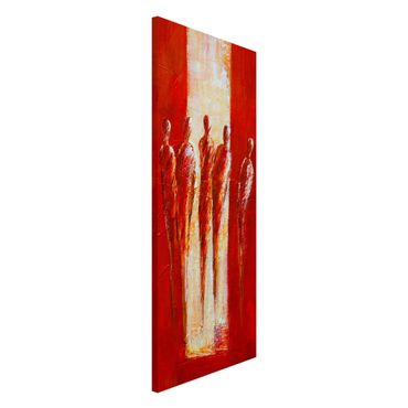 Magnettafel - Petra Schüßler - Fünf Figuren in Rot 02 - Memoboard Panorama Hochformat
