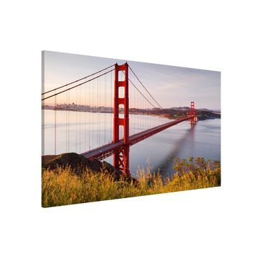 Magnettafel - Golden Gate Bridge in San Francisco - Memoboard Querformat