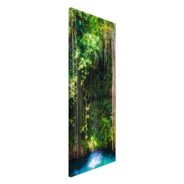 Magnettafel - Hängende Wurzeln von Ik-Kil Cenote - Memoboard Panorama Hoch