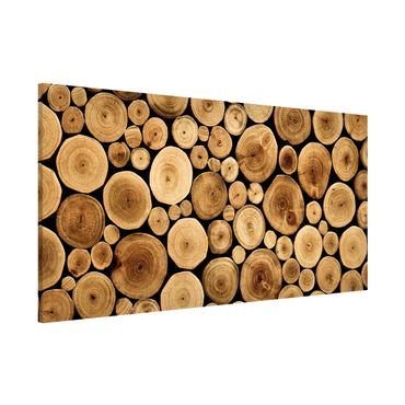 Magnettafel - Homey Firewood - Memoboard Panorama Quer
