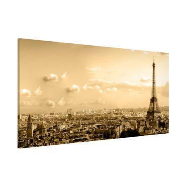 Magnettafel - I Love Paris - Memoboard Panorama Quer
