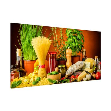 Magnettafel - Italienische Küche - Memoboard Panorama Querformat