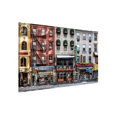 Magnettafel - Kalter Tag in NY - Memoboard Quer