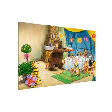 Magnettafel - Kleiner Tiger - Geburtstagsfeier - Memoboard Querformat