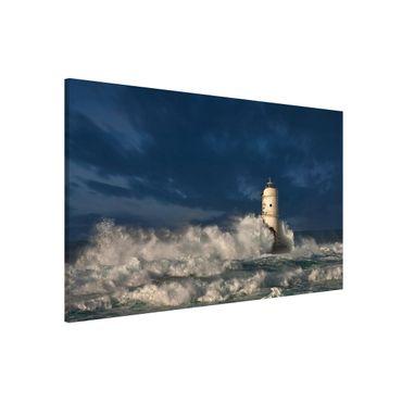 Magnettafel - Leuchtturm auf Sardinien - Memoboard Quer