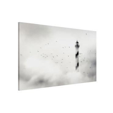 Magnettafel - Leuchtturm im Nebel - Memoboard Quer