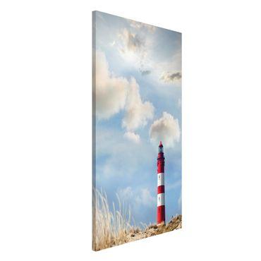 Magnettafel - Leuchtturm in den Dünen - Memoboard Hoch