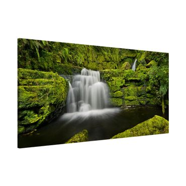 Magnettafel - Lower McLean Falls in Neuseeland - Memoboard Panorama Querformat