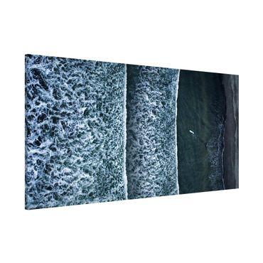 Magnettafel - Luftbild - Der Herausforderer - Memoboard Panorama Querformat 1:2